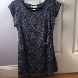 Motherhood Maternity Lace Overlay Blouse Top - Med